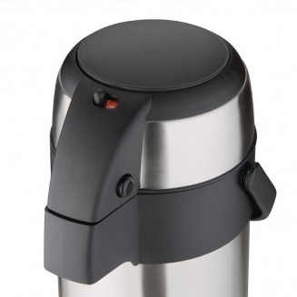Olympia Pump Action Airpot Etched 'Hot Water' 3Ltr