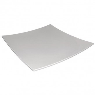 Curved Square Melamine Plate White 300mm