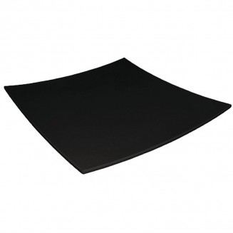 Curved Square Melamine Plate Black 300mm