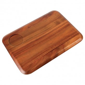 Rounded Acacia Wooden Serving Board