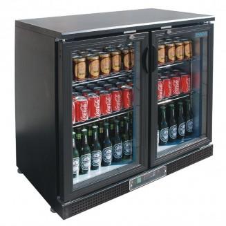 Polar Low Height Hinged Door Display Cooler 168 Bottles