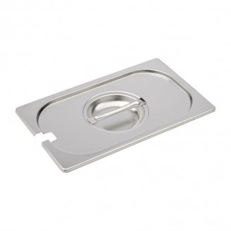 Gastro-M Stainless Steel Notched Gastronorm Lid GN 1/4