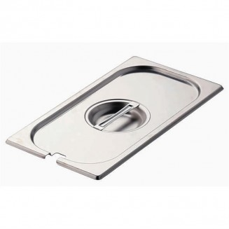 Gastro-M Stainless Steel Notched Gastronorm Lid GN 1/3