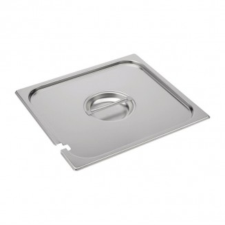Gastro-M Stainless Steel Notched Gastronorm Lid GN 2/3