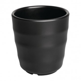 Kristallon Fusion Melamine Tea Tumblers Black 200ml