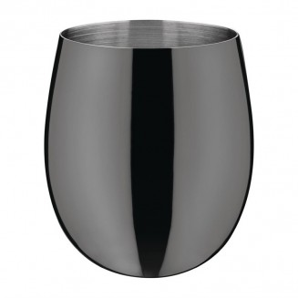 Olympia Curved Cocktail Glasses 340ml Gunmetal