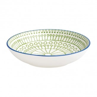 Olympia Fresca Flat Bowls Green 195mm