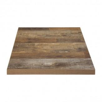 Bolero Pre-drilled Square Table Top Urban Dark