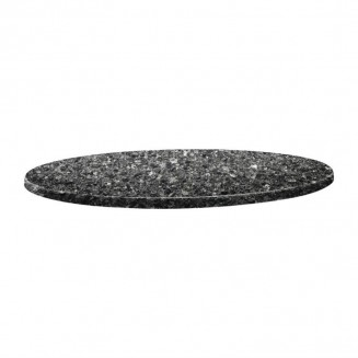 Topalit Classic Line Round Table Top Black Granite 600mm
