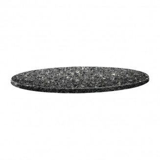 Topalit Classic Line Round Table Top Black Granite 700mm