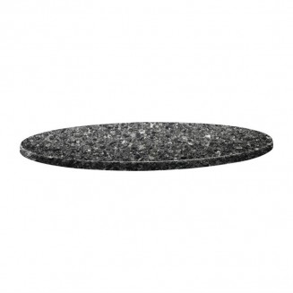 Topalit Classic Line Round Table Top Black Granite 800mm