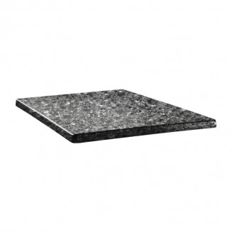 Topalit Classic Line Square Table Top Black Granite 600mm