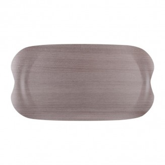Roltex Wave Service Tray Grey Wood Grain 430 x 230mm