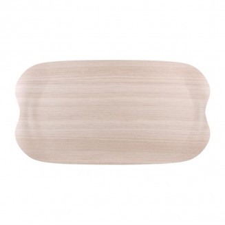 Roltex Wave Service Tray Light Wood Grain 430 x 230mm