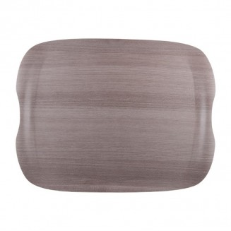 Roltex Wave Service Tray Grey Wood Grain 430 x 330mm