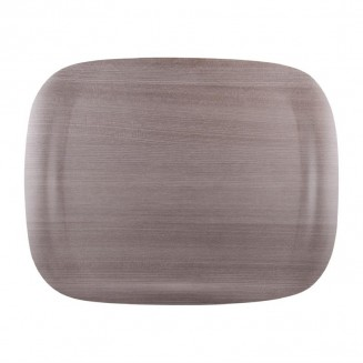 Roltex Wave Service Tray Grey Wood Grain 460 x 360mm