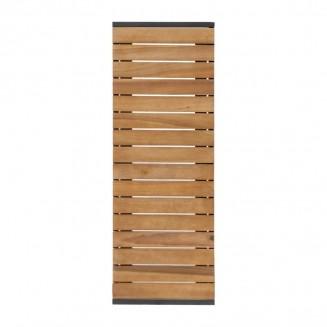 Bolero Rectangular Steel and Acacia Benches 1000mm Pack of 2