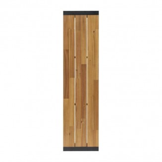 Bolero Acacia Wood and Steel Industrial Benches 1600mm Pack of 2