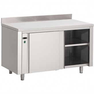 Gastro-M Stainless Steel Hot Cupboard With Upstand 850 x 1000 x 700mm